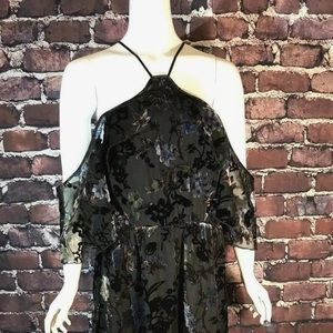 ABS by Allen Schwartz floral velvet dress size 12